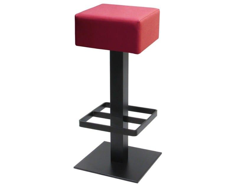 High swivel iron stool with footrest SGAB-SPRITZ by Vela Arredamenti