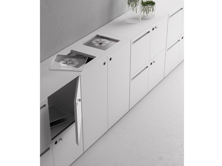 Low office storage unit with lock SERVICE by FANTONI