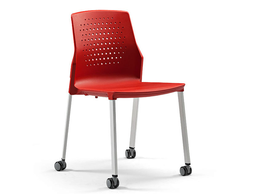 Visitor's chair with casters UKA | Visitor's chair with casters by ACTIU