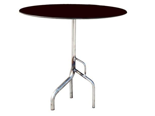 Drop-leaf round metal table BILLY-3-40 by Vela Arredamenti