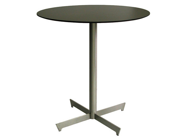 Stainless steel table with 4-star base CLIF-4-X   Stainless steel table by Vela Arredamenti