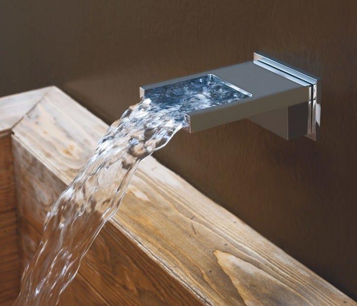 Wall-mounted chrome-plated waterfall spout BOCCA CASCATA | Waterfall spout by Bossini