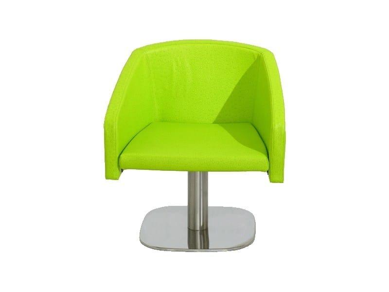 Swivel imitation leather easy chair PL003 | Easy chair by Vela Arredamenti