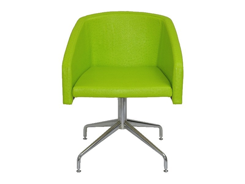 Swivel easy chair with 4-spoke base PL008 | Easy chair by Vela Arredamenti