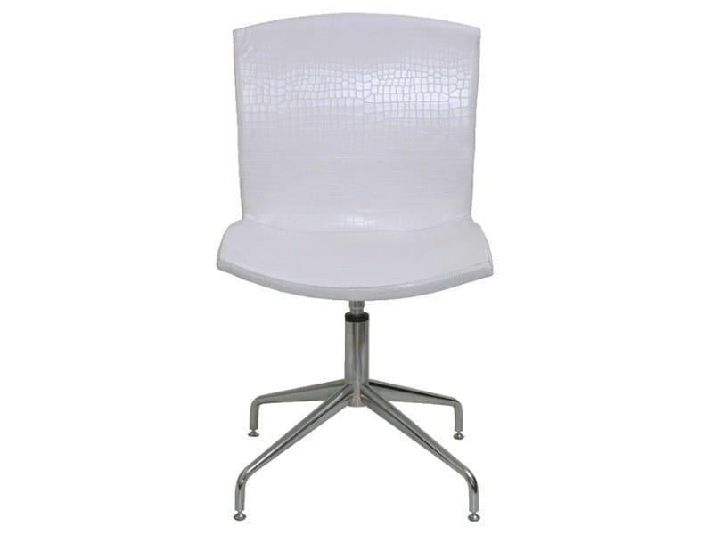 Swivel imitation leather chair PL007 by Vela Arredamenti