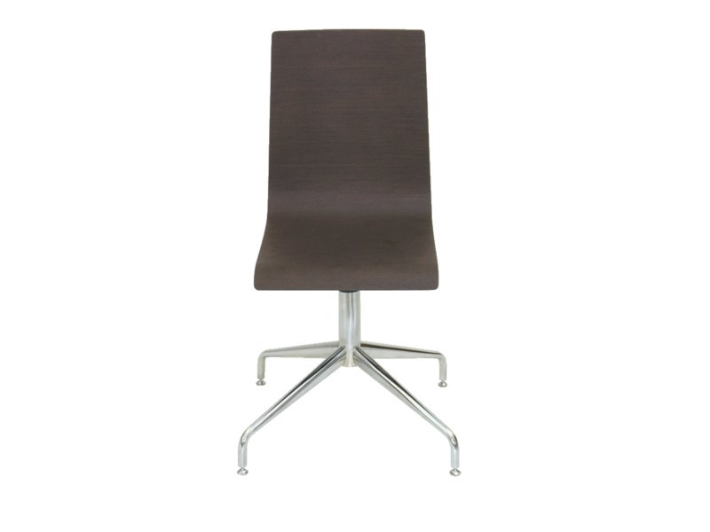 Swivel high-back wooden chair PL006 by Vela Arredamenti