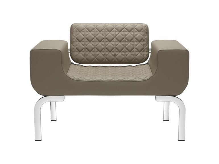 Upholstered armchair with armrests LOUNGE DIAMOND | Armchair by SitLand