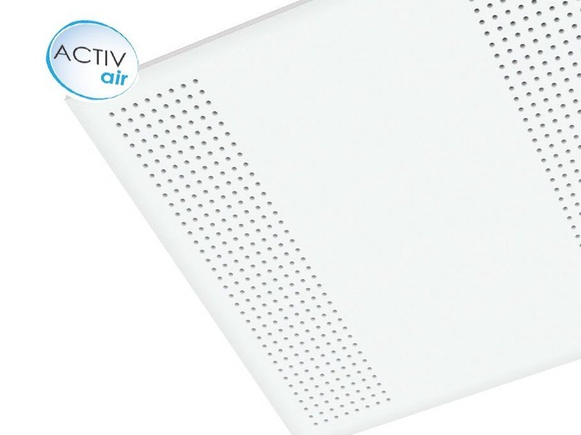 Plasterboard ceiling tiles Gyptone® Activ'Air® Point 12 by Saint-Gobain Gyproc