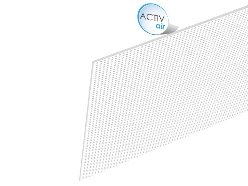 Acoustic plasterboard ceiling tiles Rigitone™ Activ'Air® 8/18 by Saint-Gobain Gyproc