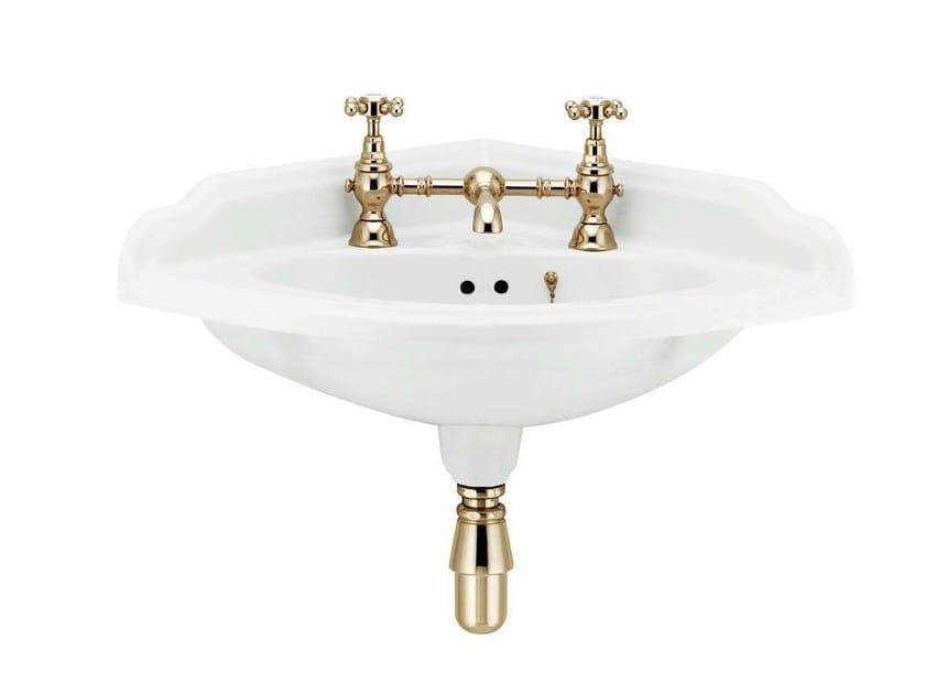 Corner wall-mounted porcelain washbasin VICTORIAN   Corner washbasin by GENTRY HOME
