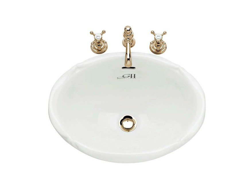 Inset oval ceramic washbasin VICTORIAN   Inset washbasin by GENTRY HOME