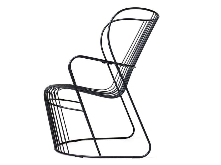 Steel garden armchair KASKAD | Garden armchair by Nola Industrier
