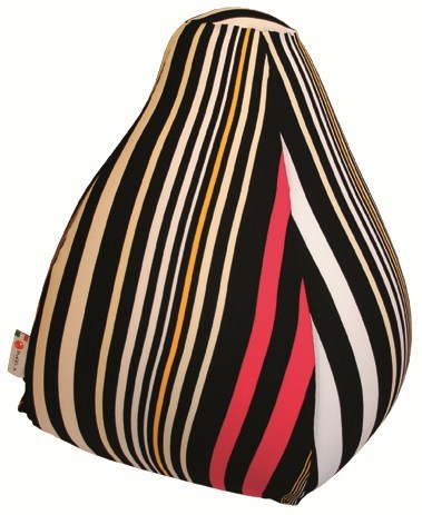 Fabric bean bag with removable lining PIRAMID STRIPES by Puffla