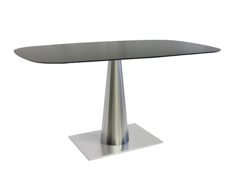 Rectangular stainless steel table SLICONO-64-X by Vela Arredamenti