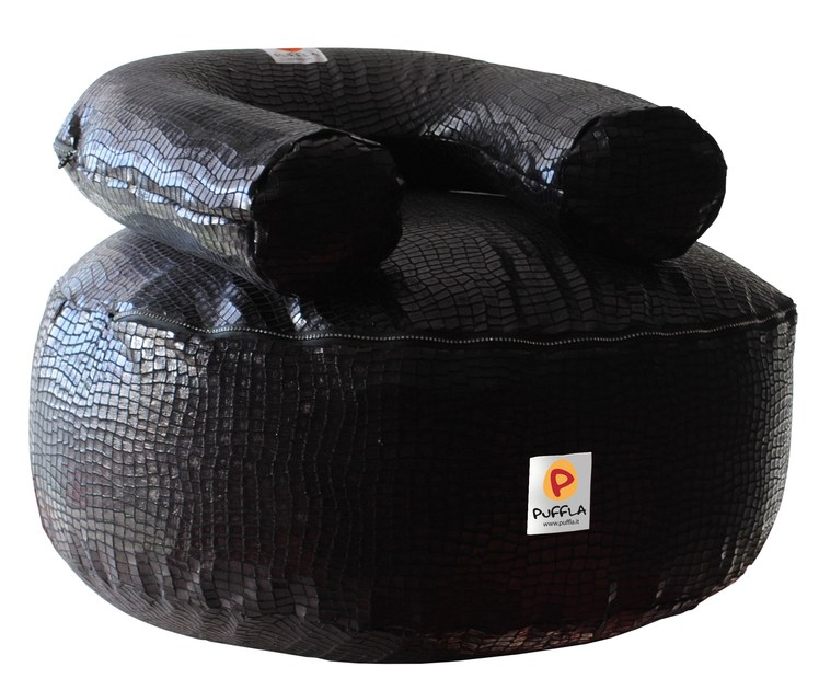 Fabric pouf with removable lining JELLY COCCO by Puffla