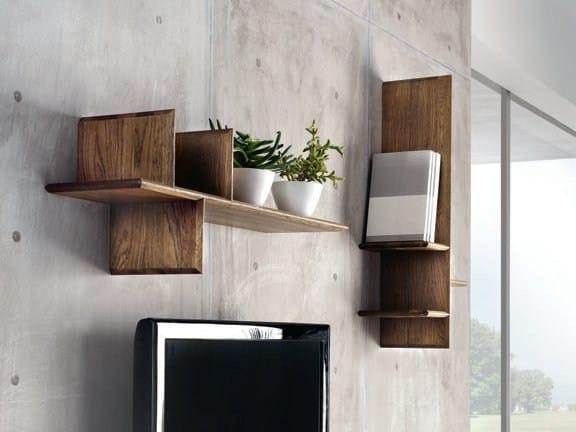 Oak wall shelf TETRIS by Domus Arte