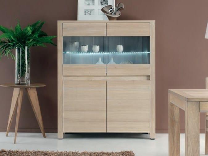 Oak display cabinet NEW YORK by Domus Arte