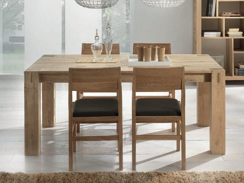 Extending rectangular solid wood table STORIA | Rectangular table by Domus Arte