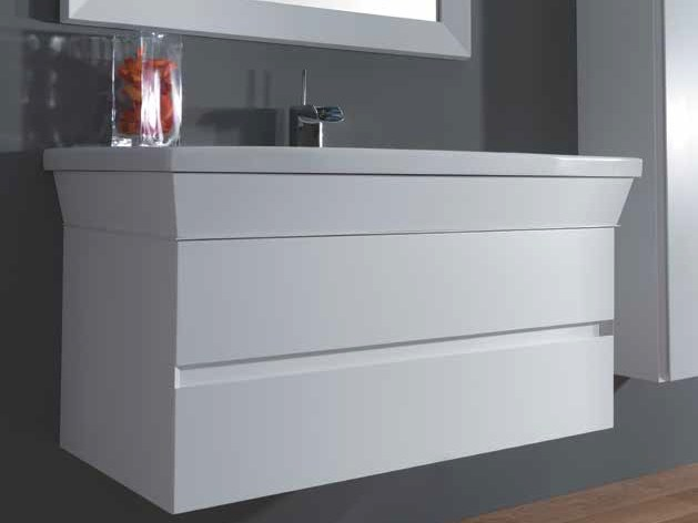 Wall-mounted vanity unit with drawers MINIMAL by Mastro Fiore