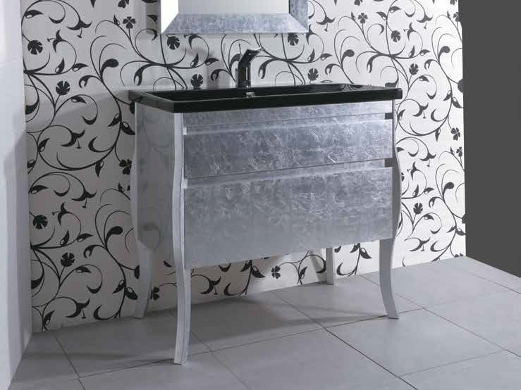 Silver leaf vanity unit with drawers MINIMAL DECO by Mastro Fiore