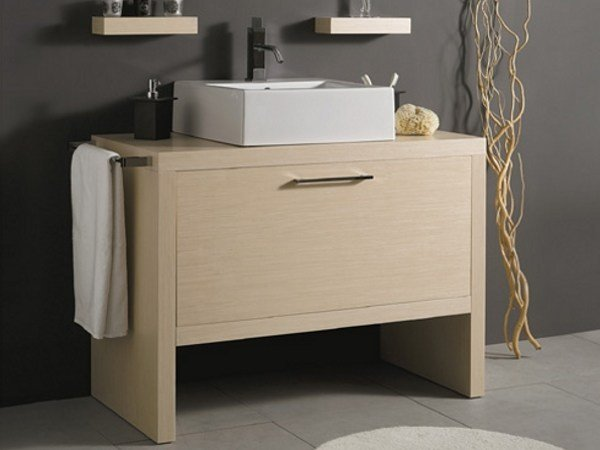 Wooden vanity unit with drawers BENCH by Mastro Fiore
