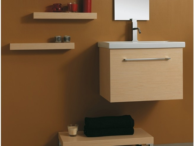 Wall-mounted vanity unit with drawers K60 by Mastro Fiore