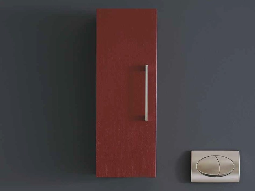 Wooden wall cabinet with doors SYSTEM | Wall cabinet by Mastro Fiore