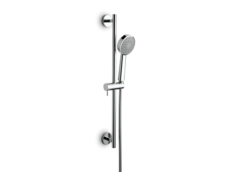 Chrome-plated shower wallbar with hand shower with hose LIBERA   Shower wallbar by newform