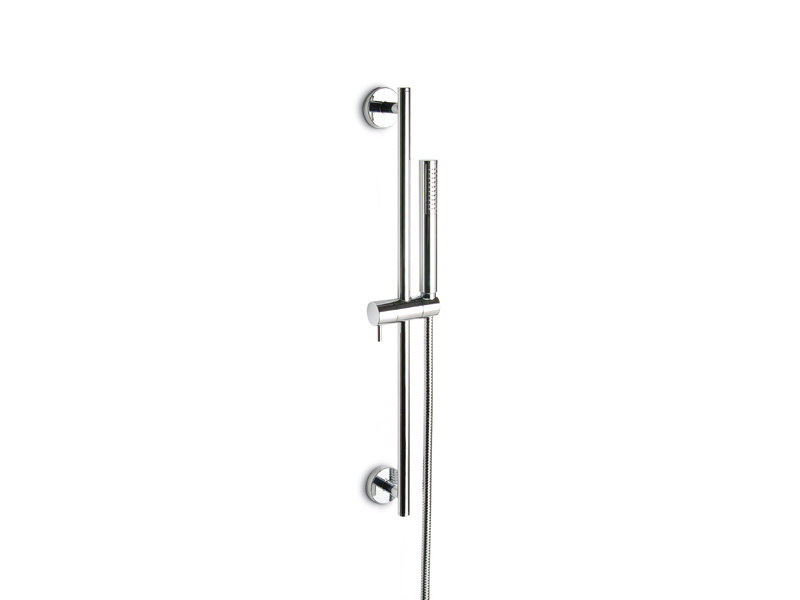 Chrome-plated shower wallbar with hand shower with hose LIBERA | Shower wallbar by newform