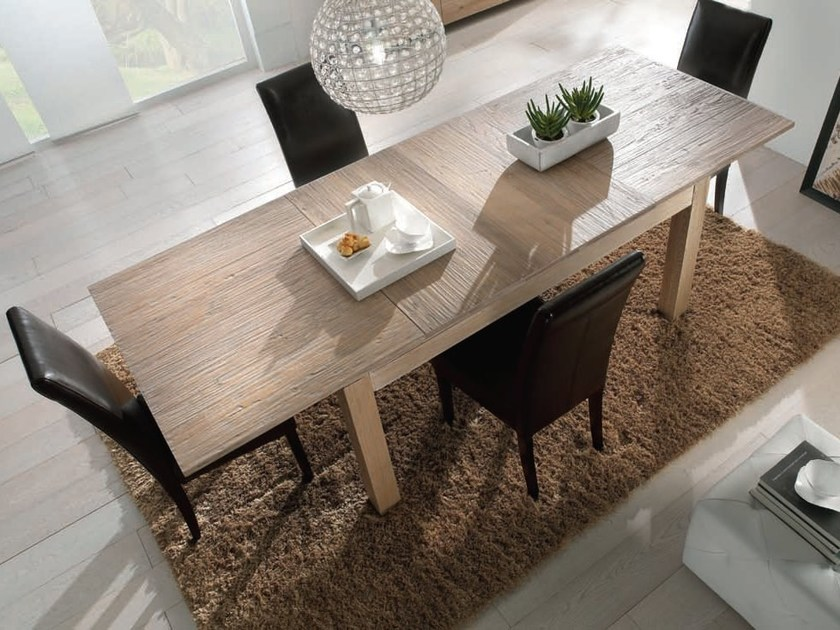 Rectangular solid wood table NATURA by Domus Arte