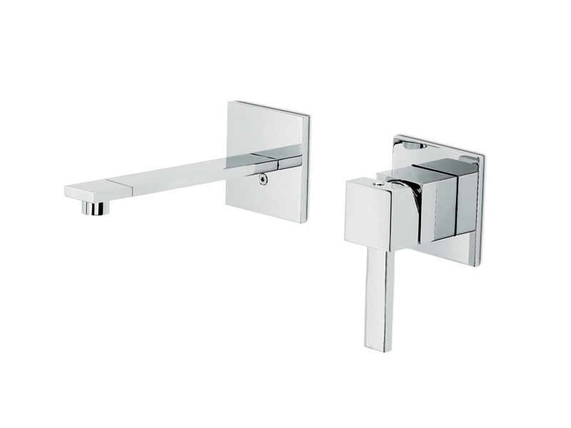 Wall-mounted single handle washbasin mixer without waste FORMA | Wall-mounted washbasin mixer by newform