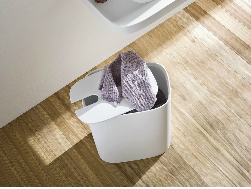 Corian® laundry container FONTE | Laundry container by Rexa Design