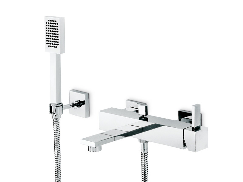Wall-mounted bathtub set with hand shower FORMA | Wall-mounted bathtub set by newform