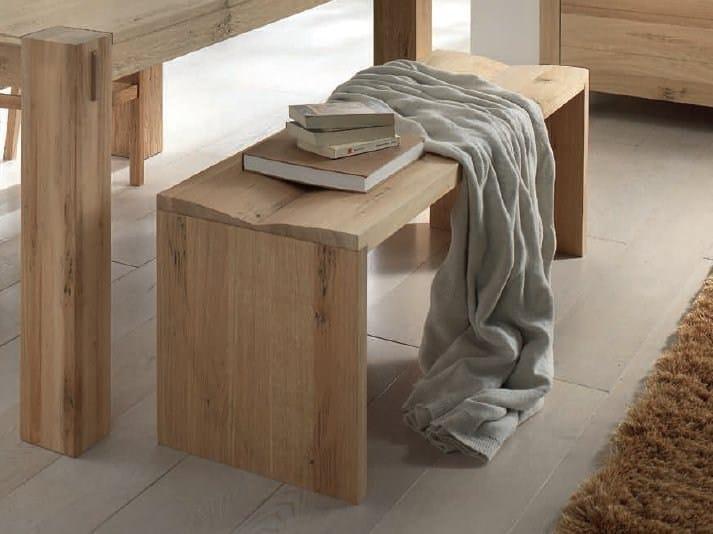Solid wood bench BACIO by Domus Arte