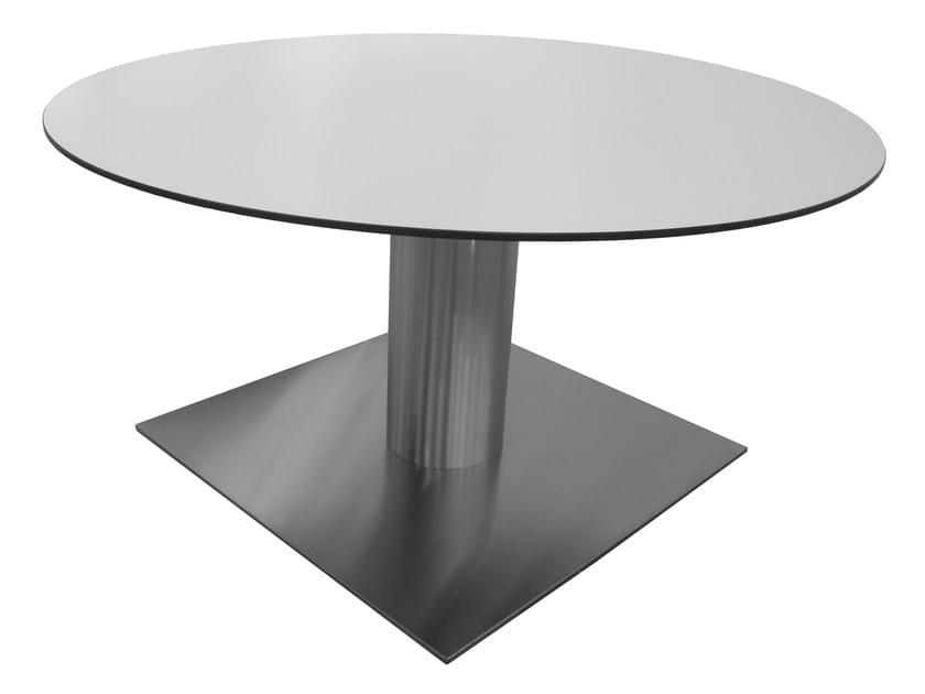 Round stainless steel table SLIM-76-X by Vela Arredamenti