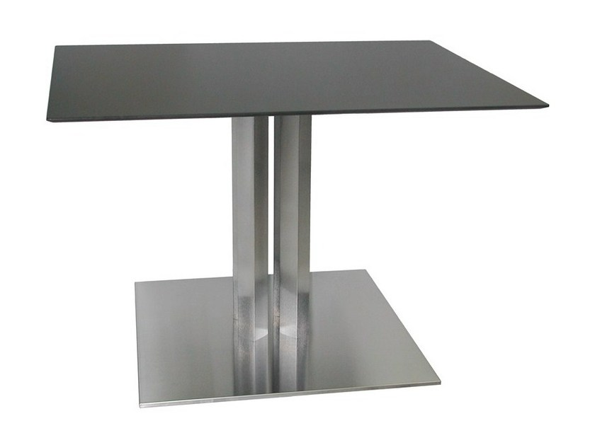 Square stainless steel table SLIM-76-4-X by Vela Arredamenti