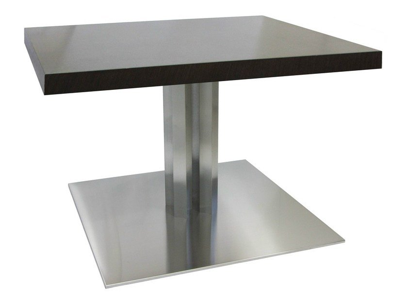 Square stainless steel table SLIM-96-4-X by Vela Arredamenti