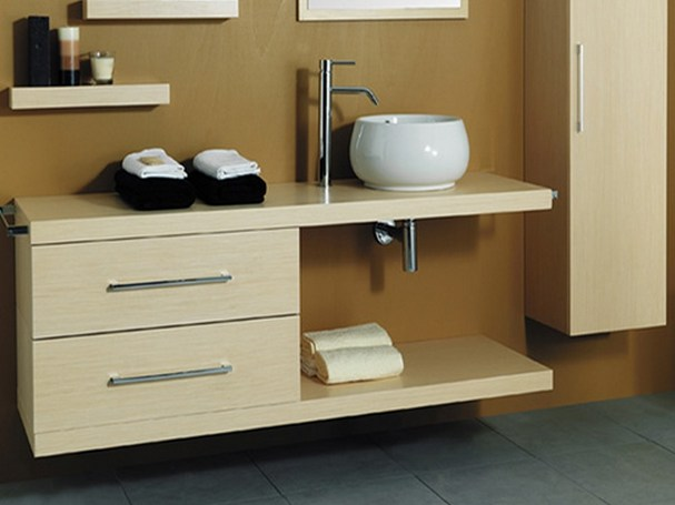 Wooden bathroom cabinet with drawers 2CSS-B by Mastro Fiore