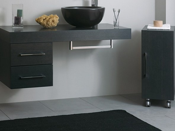 Wooden bathroom cabinet with drawers 2CSS-A by Mastro Fiore