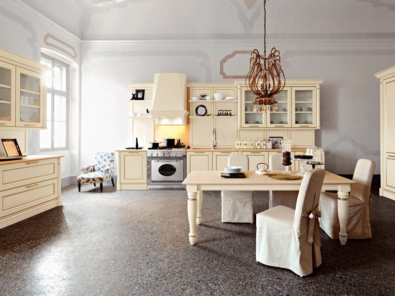 Lacquered MDF kitchen with handles ELITE - COMPOSITION 4 by Cesar
