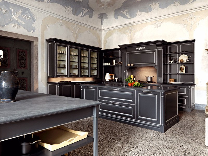 Classic style kitchen with island ELITE - COMPOSITION 1 by Cesar Arredamenti