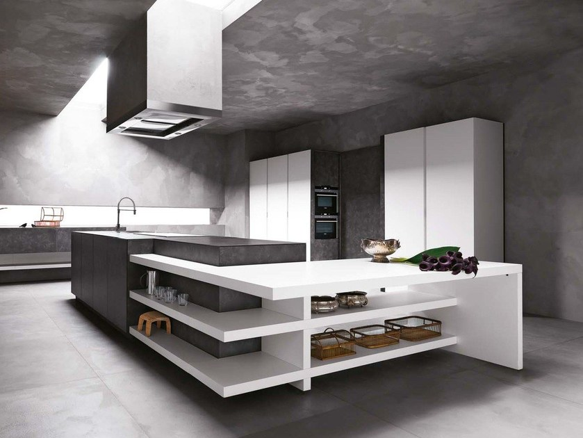 Stone kitchen with island ELLE - COMPOSITION 1 by Cesar Arredamenti