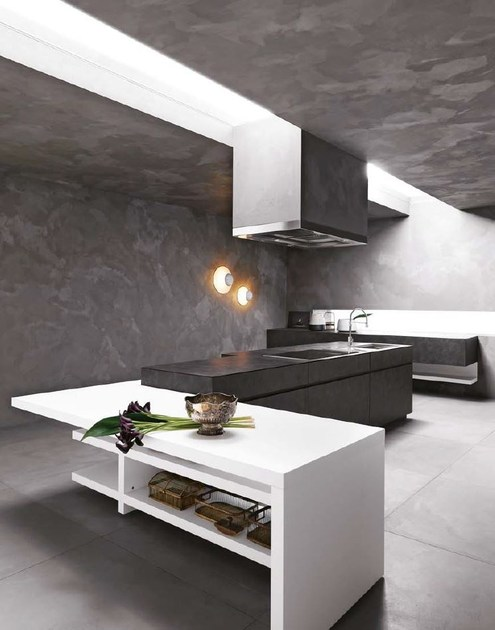 Stone kitchen with island elle composition 1 by cesar for Cesar arredamenti