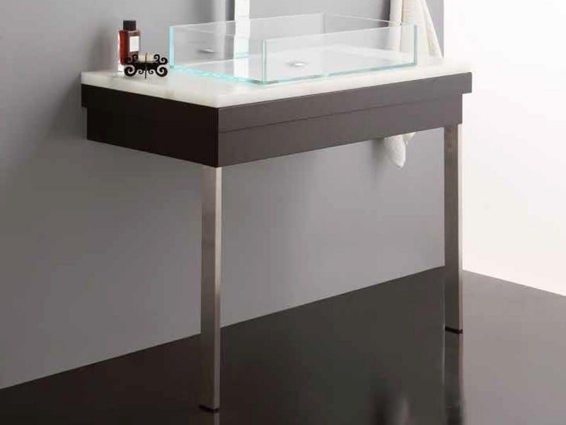 Alabaster vanity unit with drawers STONE-EVO | Vanity unit by Mastro Fiore
