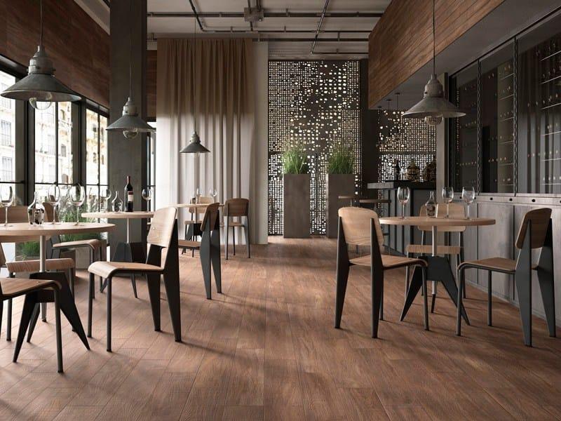 Revestimiento de pared suelo de gres porcel nico esmaltado imitaci n madera para interiores y - Gres esmaltado ...
