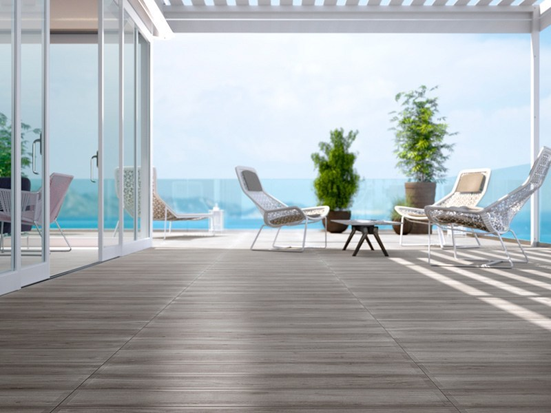 Indoor/outdoor glazed stoneware wall/floor tiles with wood effect WOOD by Ceramica d'Imola