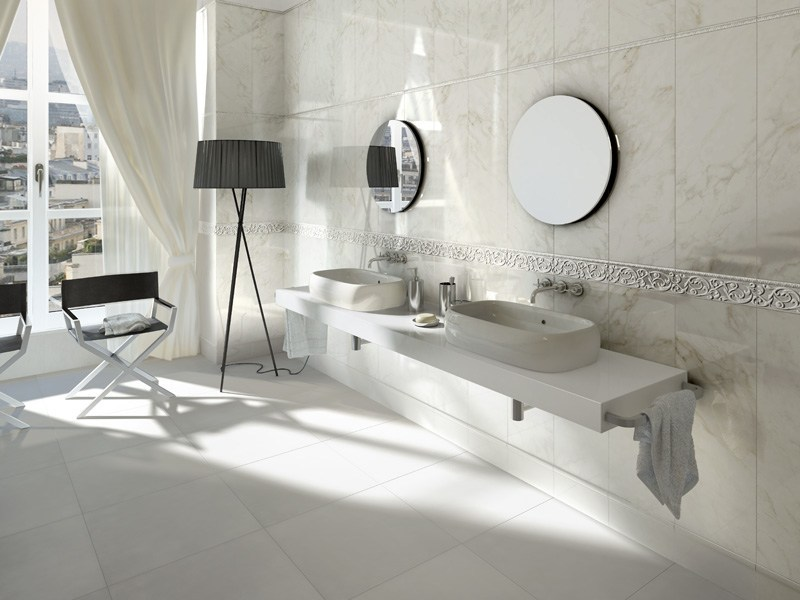 Double-fired ceramic wall/floor tiles with marble effect NEOCLASSICA by Ceramica d'Imola