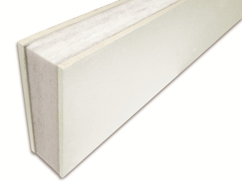 Polyester fibre sandwich panel / Sound insulation and sound absorbing panel for false ceiling Isolmant CG by Isolmant