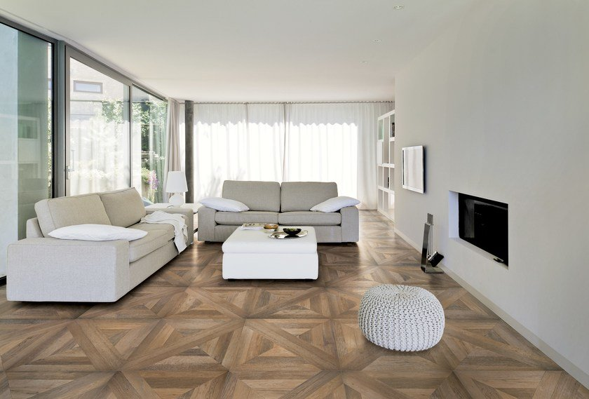 Porcelain stoneware flooring with wood effect MANSION by Ceramiche Refin