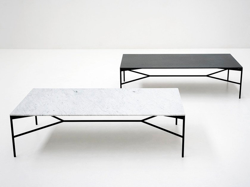 Low Rectangular Marble Coffee Table Chill Out By Tacchini